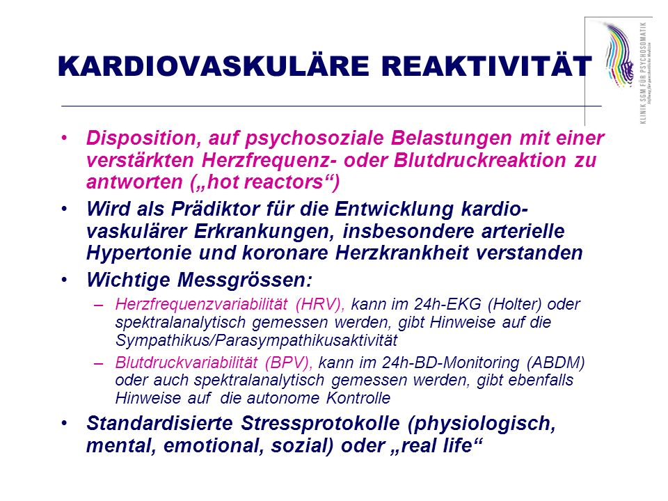 KARDIOVASKULÄRE REAKTIVITÄT