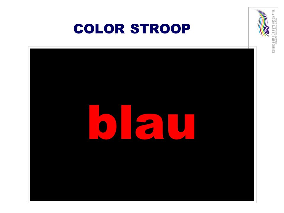COLOR STROOP blau