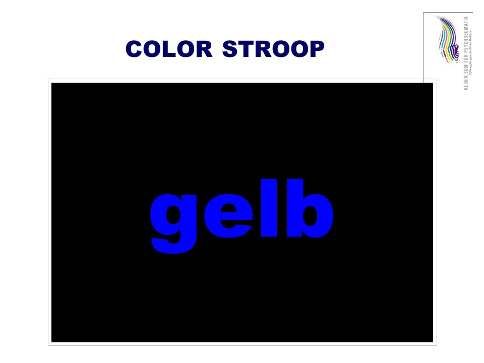 COLOR STROOP gelb