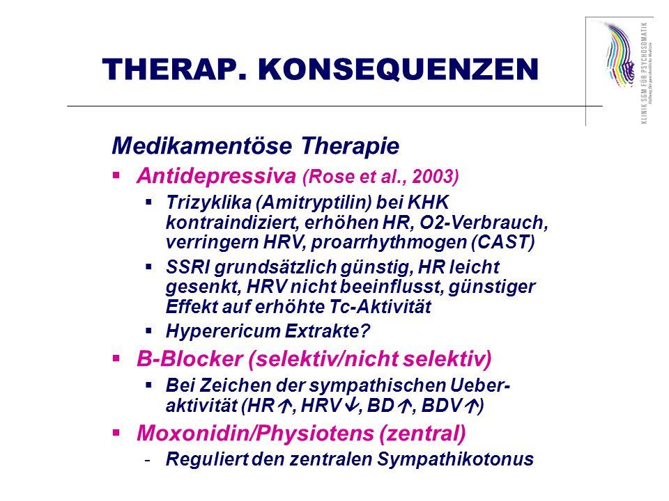 THERAP. KONSEQUENZEN Medikamentöse Therapie