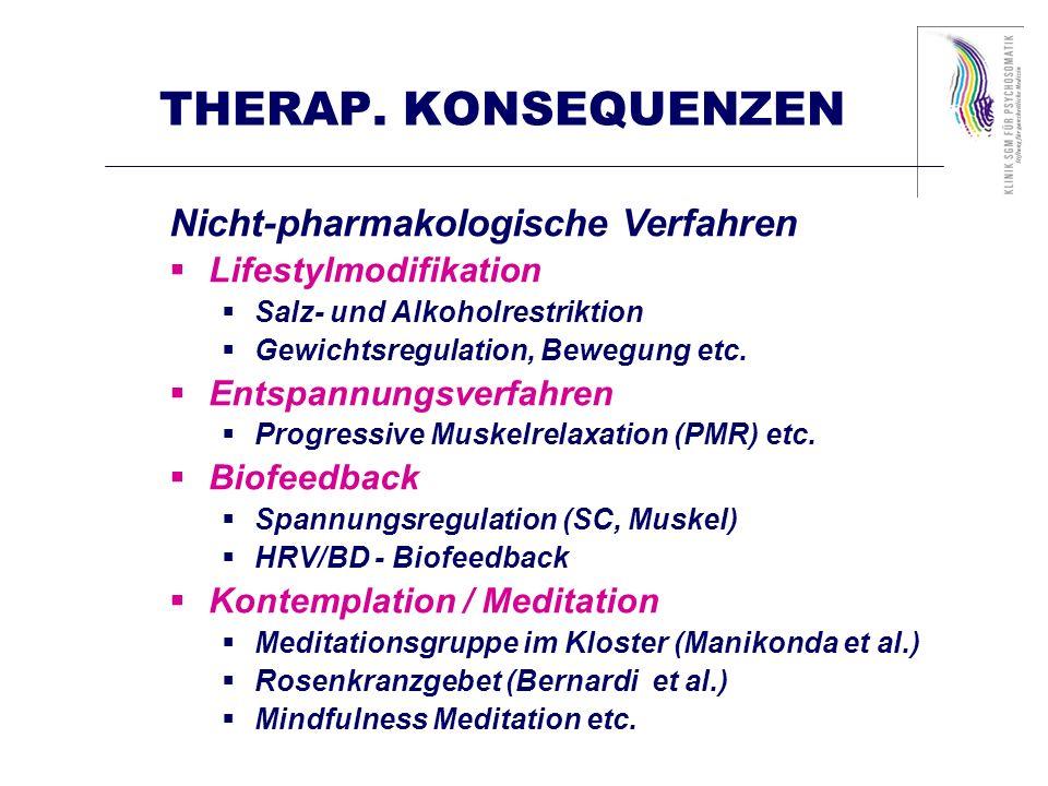 THERAP. KONSEQUENZEN Nicht-pharmakologische Verfahren