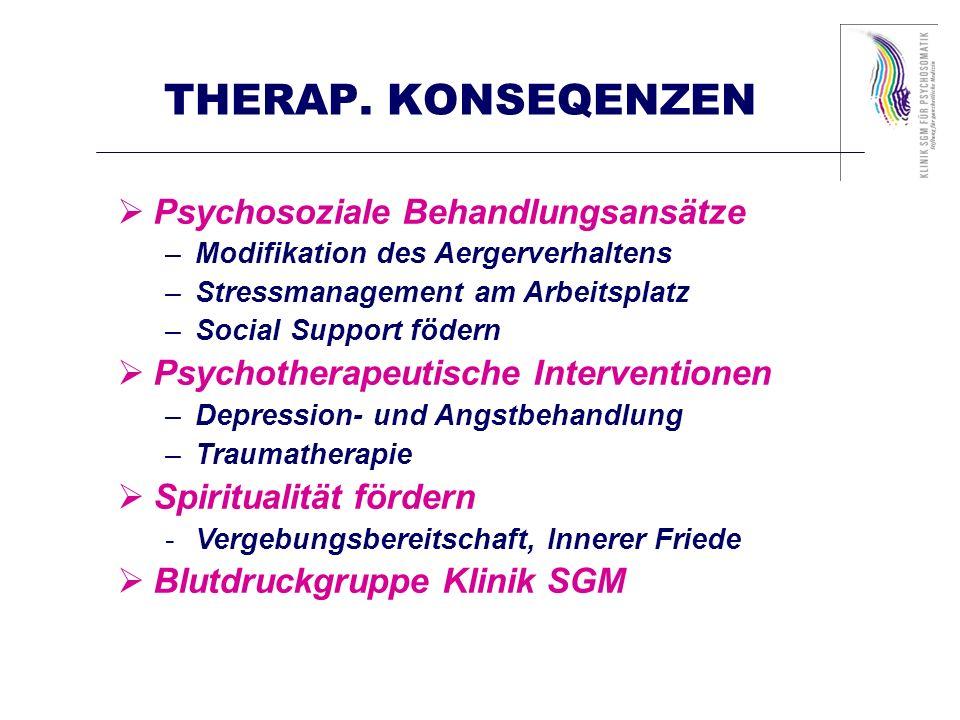 THERAP. KONSEQENZEN Psychosoziale Behandlungsansätze