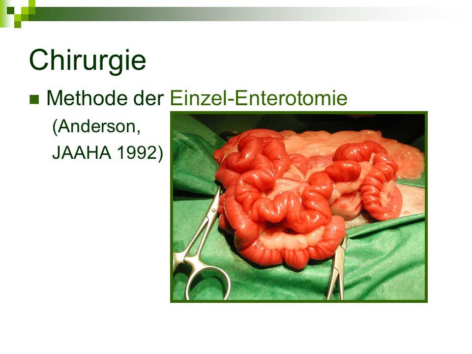 Chirurgie Methode der Einzel-Enterotomie (Anderson, JAAHA 1992)