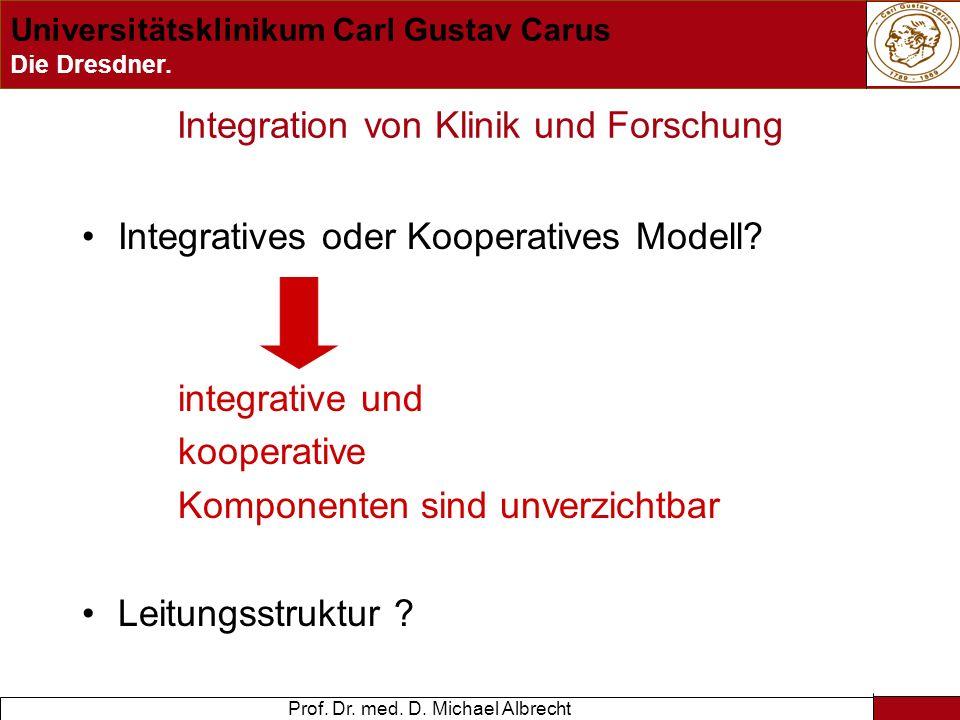 Integration von Klinik und Forschung