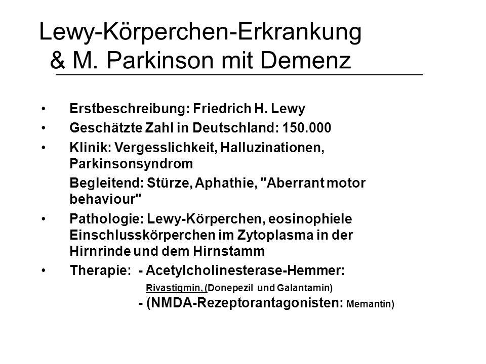Lewy-Körperchen-Erkrankung & M. Parkinson mit Demenz