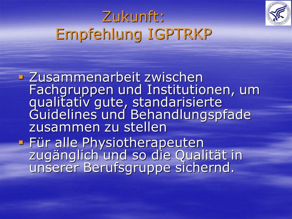 Zukunft: Empfehlung IGPTRKP