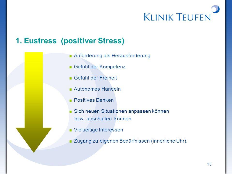 1. Eustress (positiver Stress)