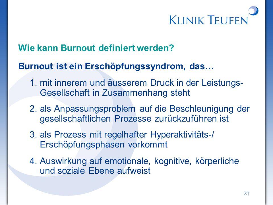 Wie kann Burnout definiert werden