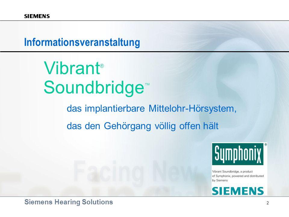 Vibrant® Soundbridge™ Informationsveranstaltung
