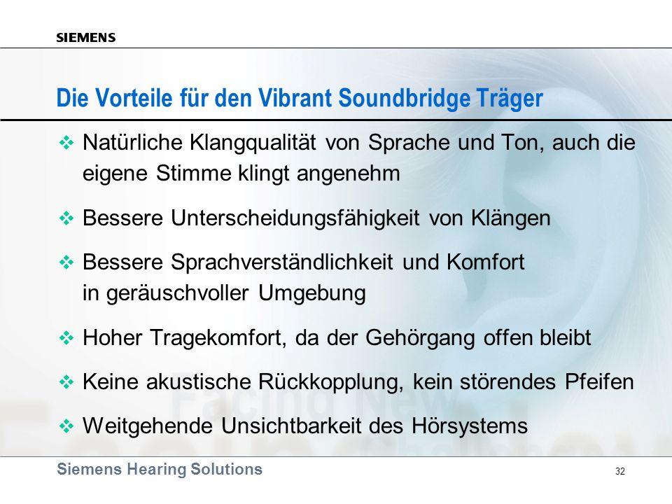 Die Vorteile für den Vibrant Soundbridge Träger