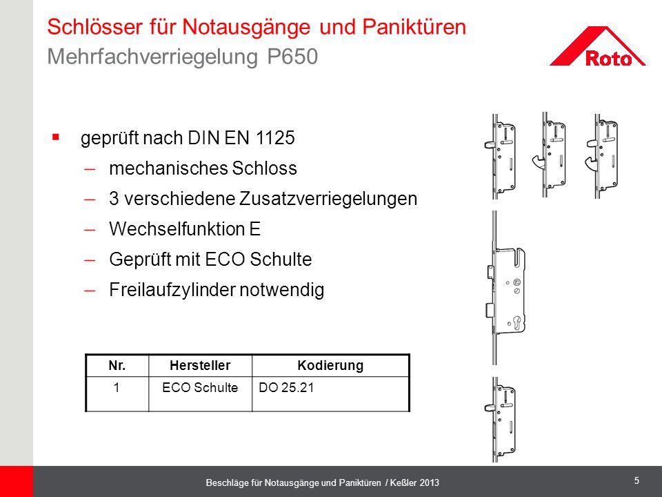 Schlösser für Notausgänge und Paniktüren Mehrfachverriegelung P650