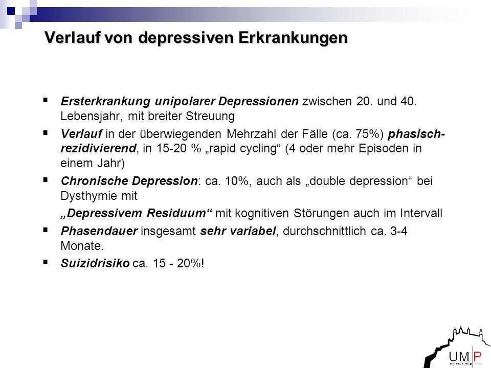 Verlauf von depressiven Erkrankungen