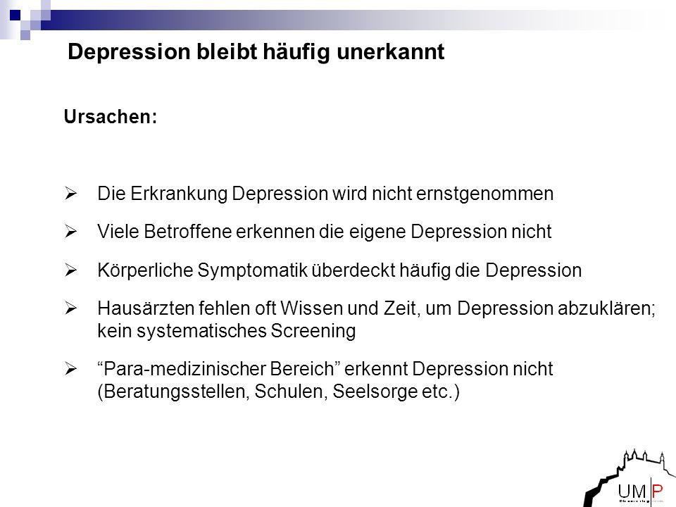 Depression bleibt häufig unerkannt