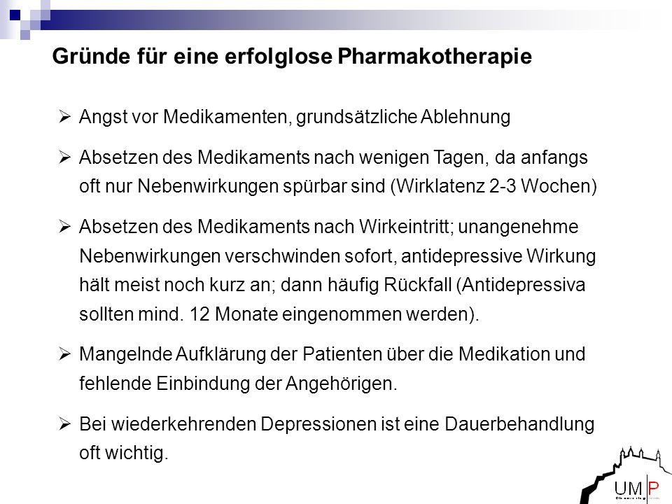Gründe für eine erfolglose Pharmakotherapie