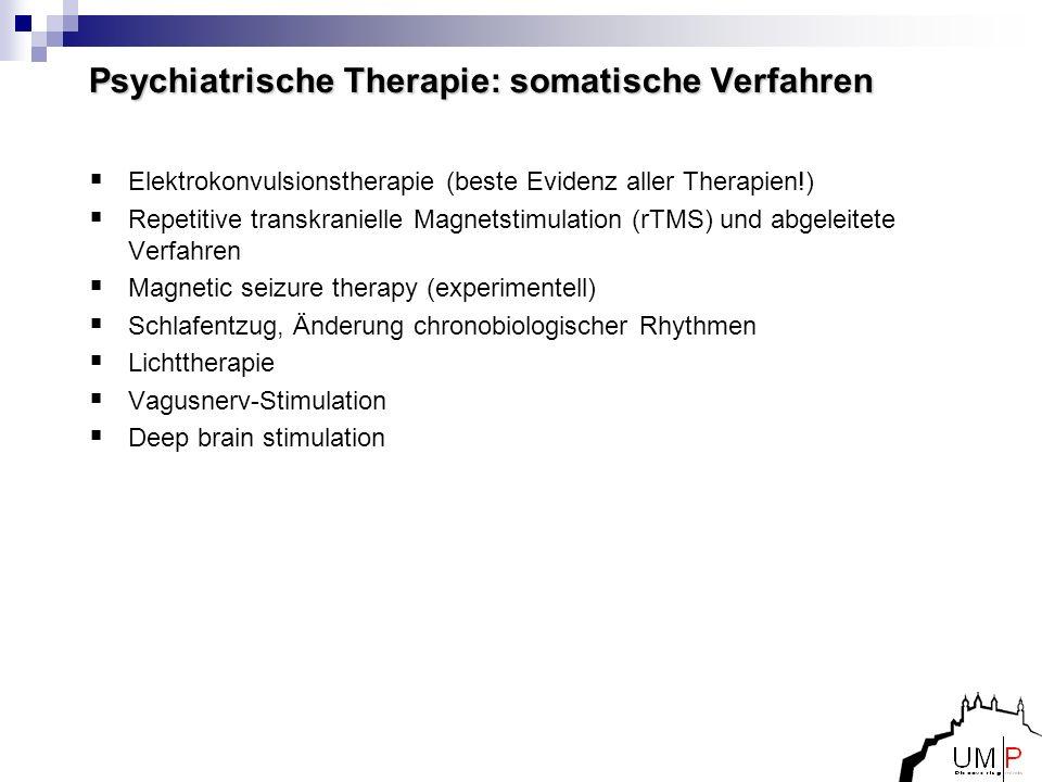 Psychiatrische Therapie: somatische Verfahren