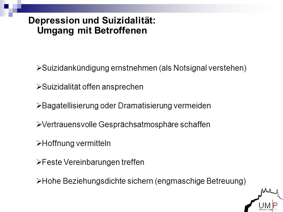 Depression und Suizidalität: Umgang mit Betroffenen