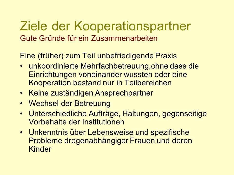 Ziele der Kooperationspartner Gute Gründe für ein Zusammenarbeiten