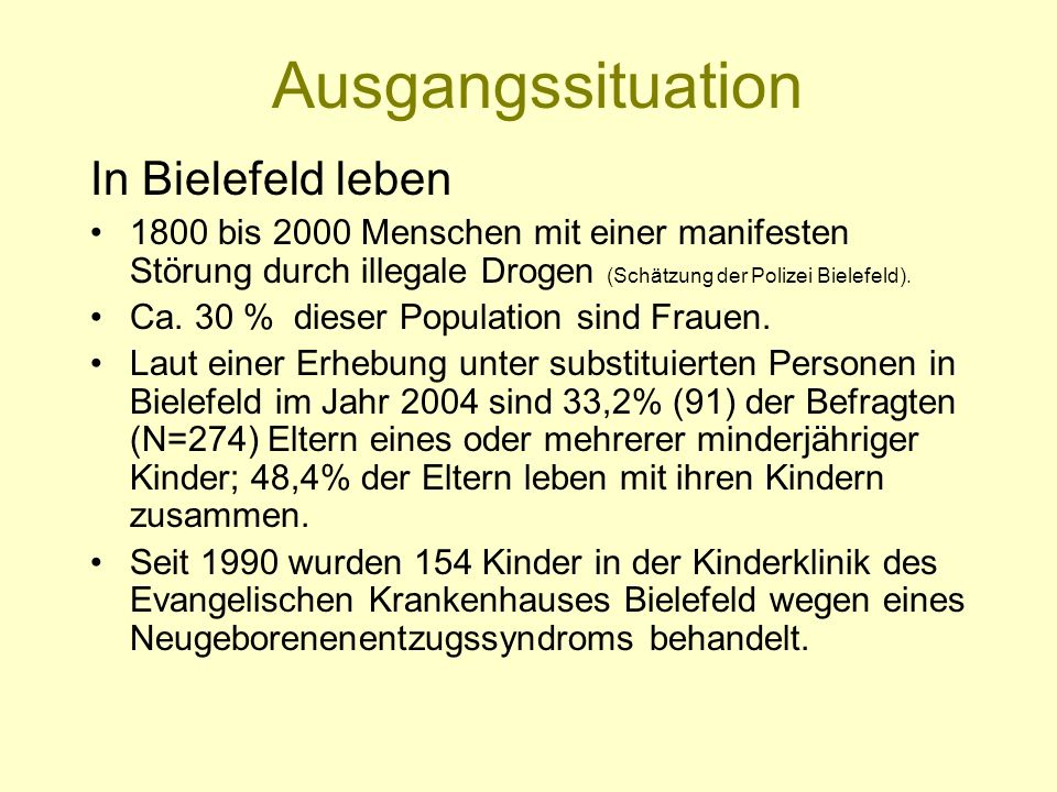 Ausgangssituation In Bielefeld leben