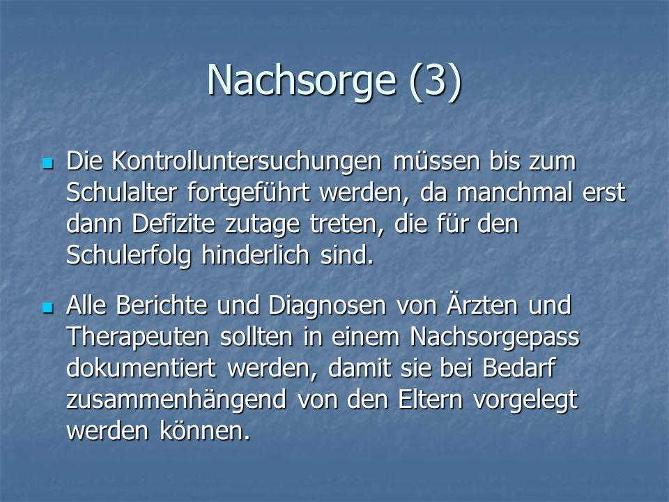 Nachsorge (3)