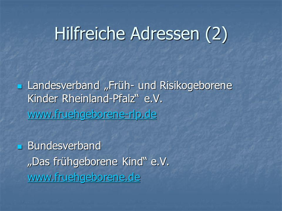 Hilfreiche Adressen (2)