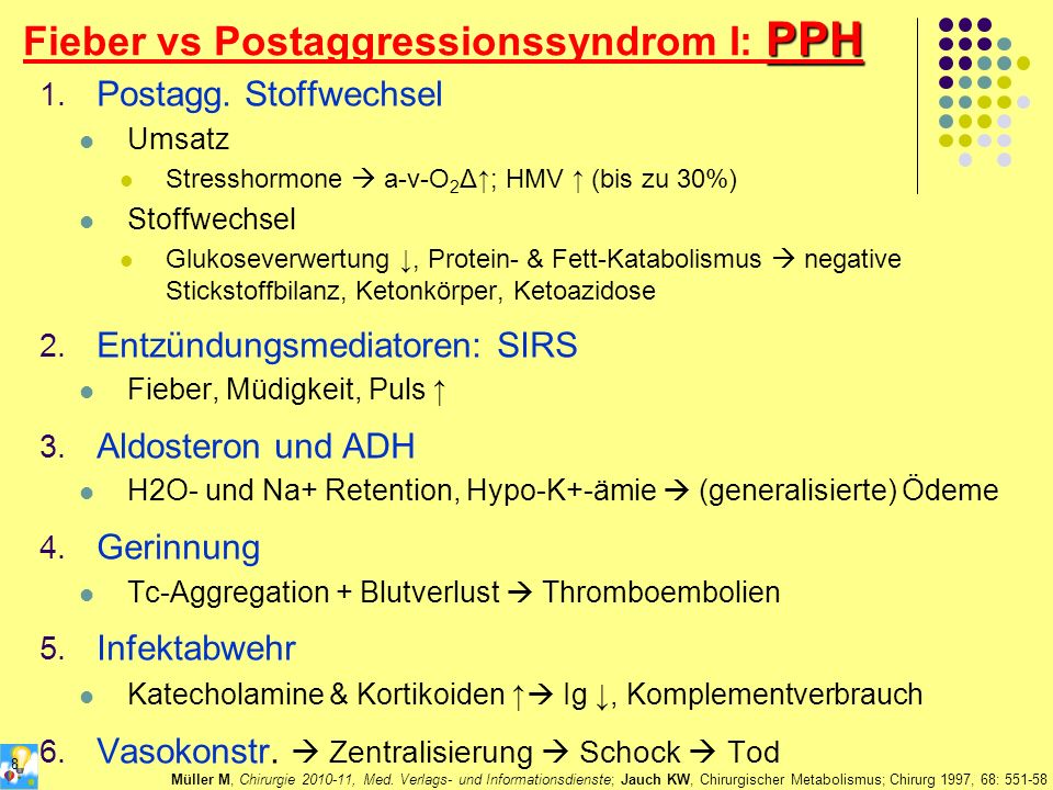 Fieber vs Postaggressionssyndrom I: PPH