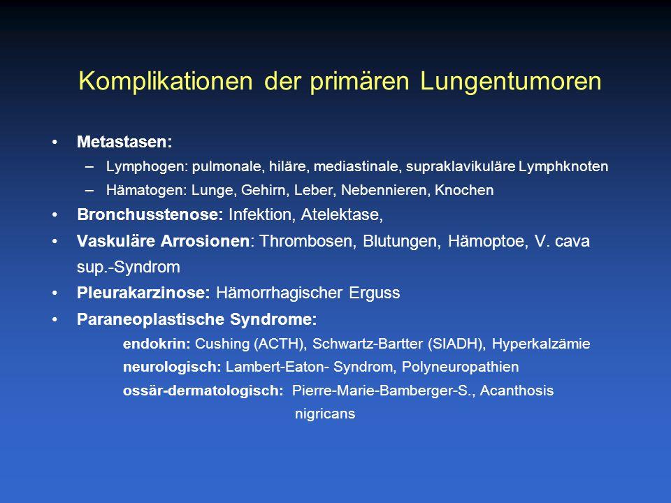Komplikationen der primären Lungentumoren