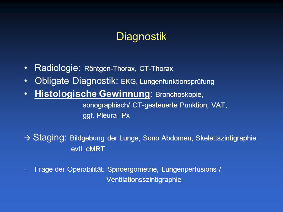Diagnostik Radiologie: Röntgen-Thorax, CT-Thorax