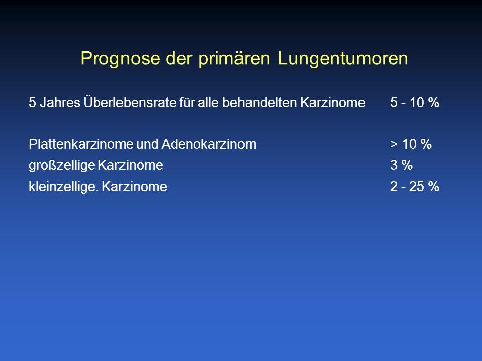 Prognose der primären Lungentumoren
