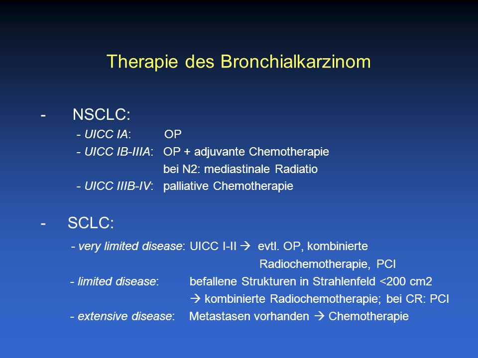 Therapie des Bronchialkarzinom