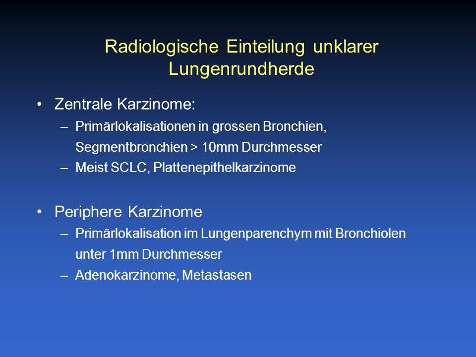 Radiologische Einteilung unklarer Lungenrundherde