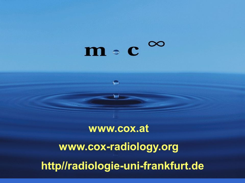 www.cox.at www.cox-radiology.org http//radiologie-uni-frankfurt.de