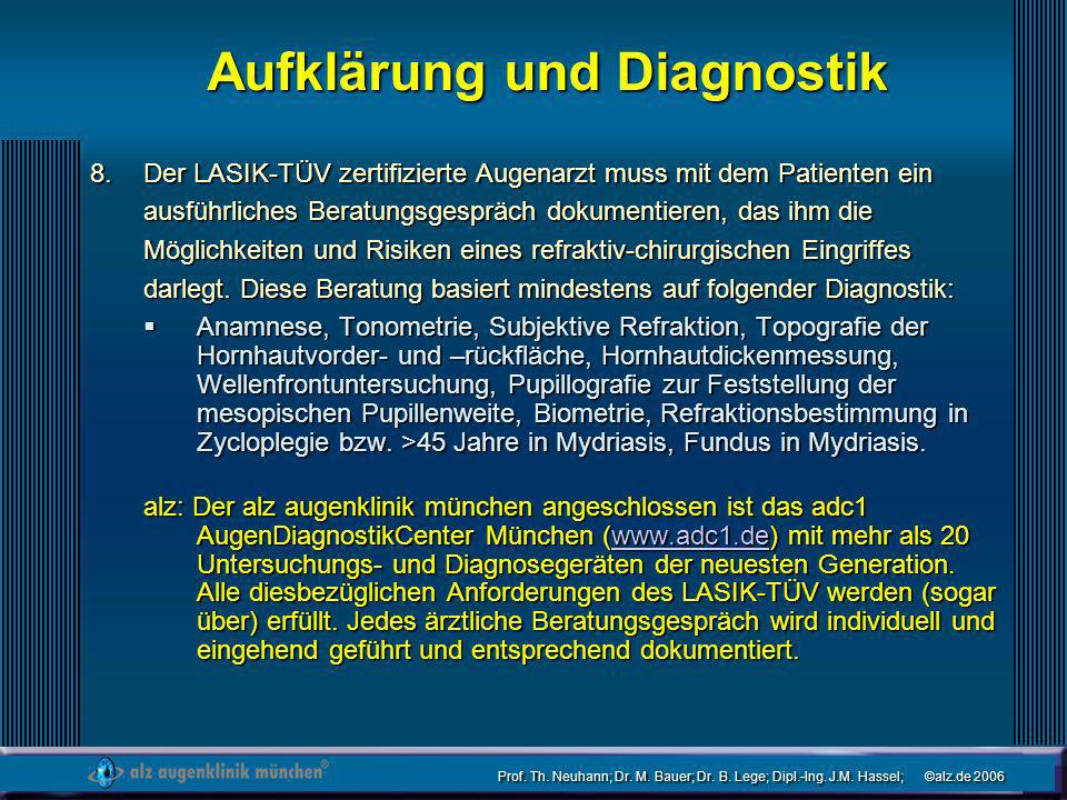 Aufklärung und Diagnostik