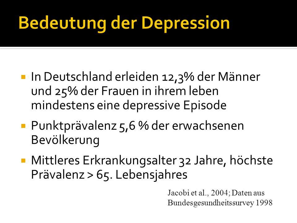 Bedeutung der Depression
