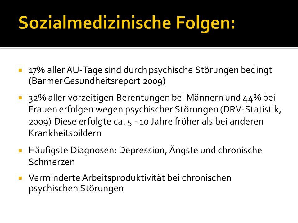 Sozialmedizinische Folgen: