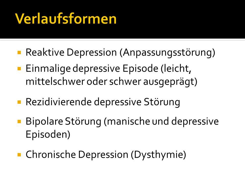 Verlaufsformen Reaktive Depression (Anpassungsstörung)