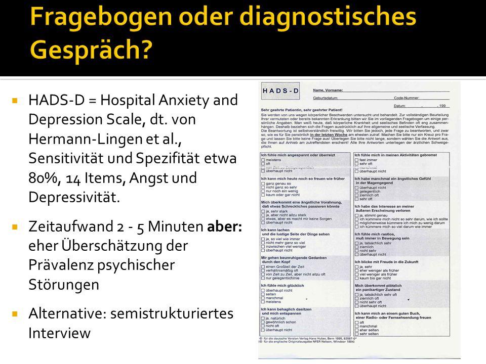 Fragebogen oder diagnostisches Gespräch