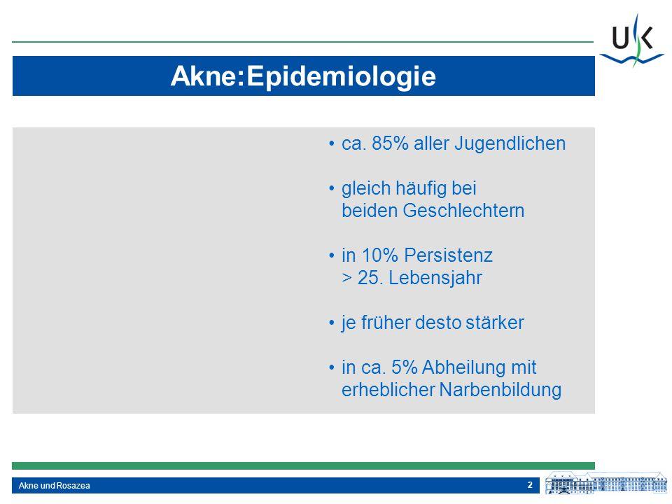 Akne:Epidemiologie ca. 85% aller Jugendlichen