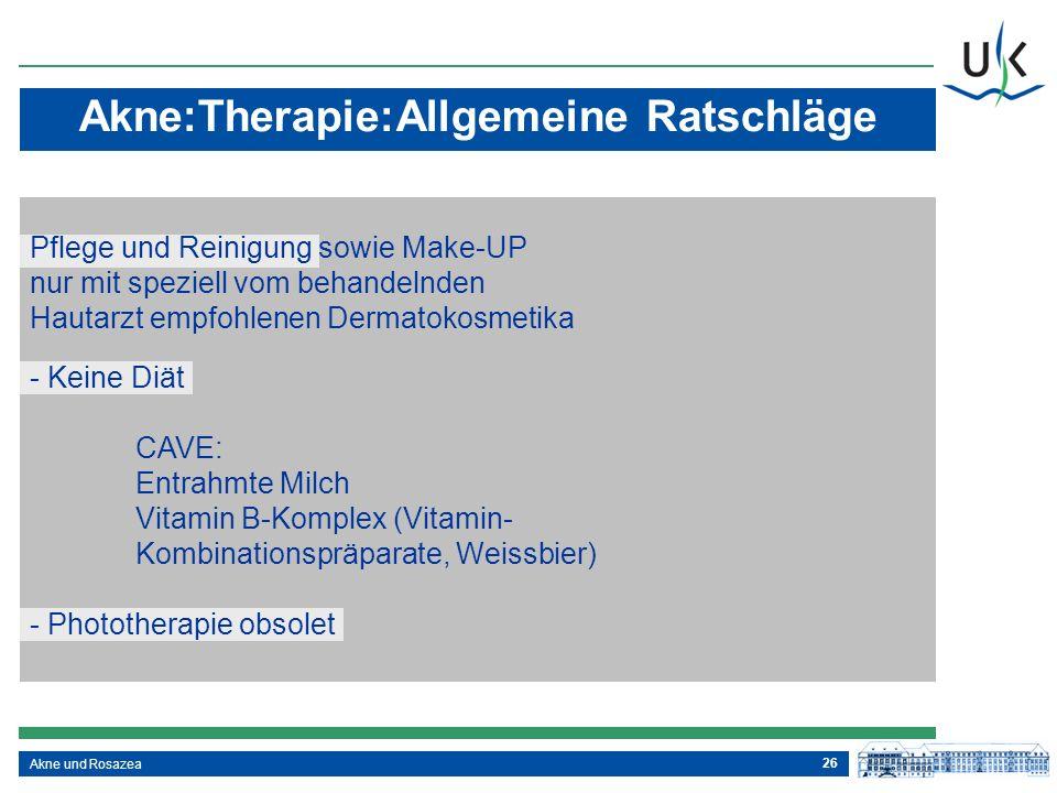 Akne:Therapie:Allgemeine Ratschläge