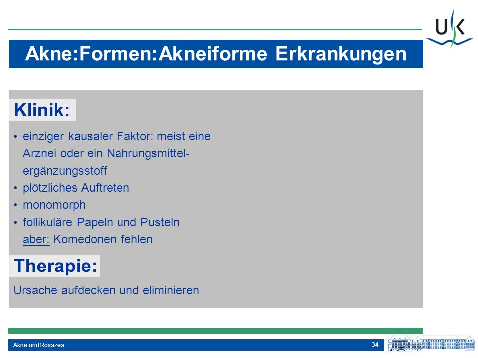 Akne:Formen:Akneiforme Erkrankungen
