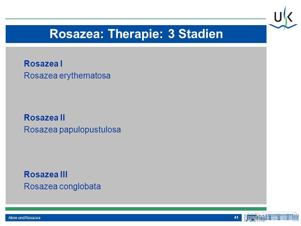 Rosazea: Therapie: 3 Stadien