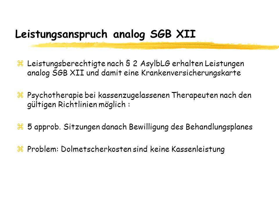 Leistungsanspruch analog SGB XII