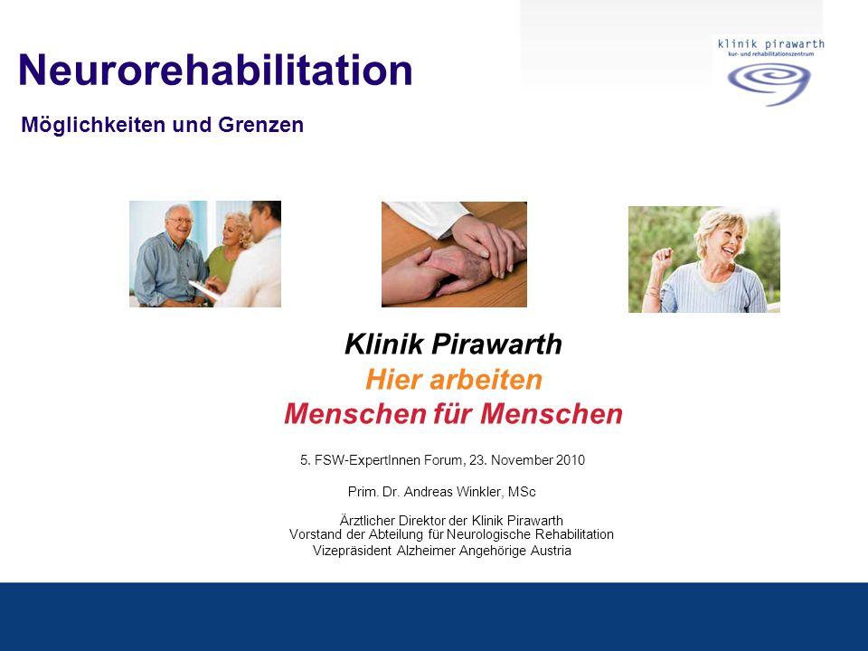 Neurorehabilitation Möglichkeiten und Grenzen