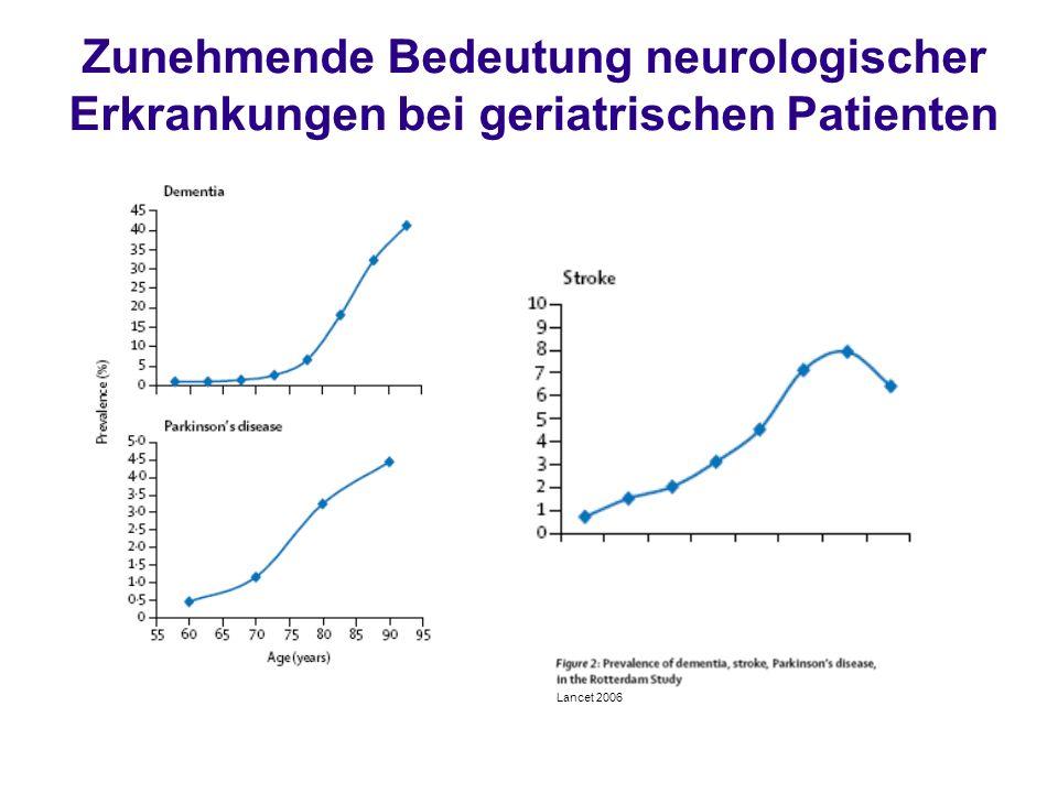 Zunehmende Bedeutung neurologischer Erkrankungen bei geriatrischen Patienten
