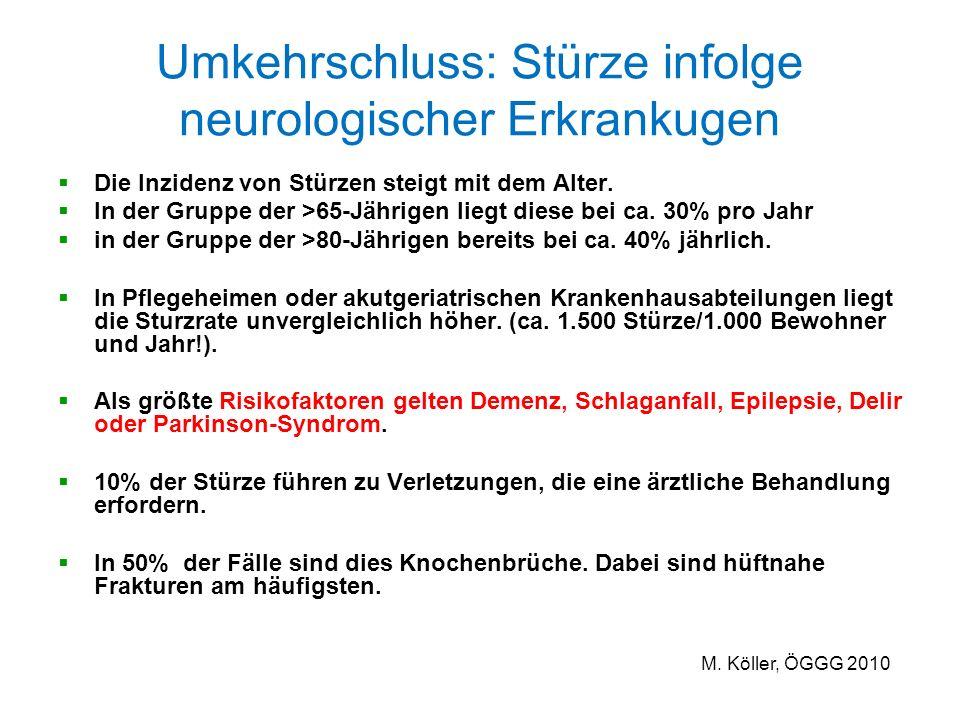 Umkehrschluss: Stürze infolge neurologischer Erkrankugen