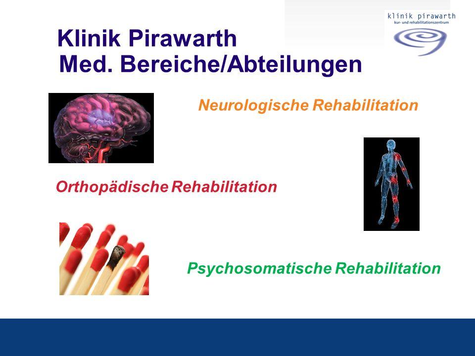 Klinik Pirawarth Med. Bereiche/Abteilungen