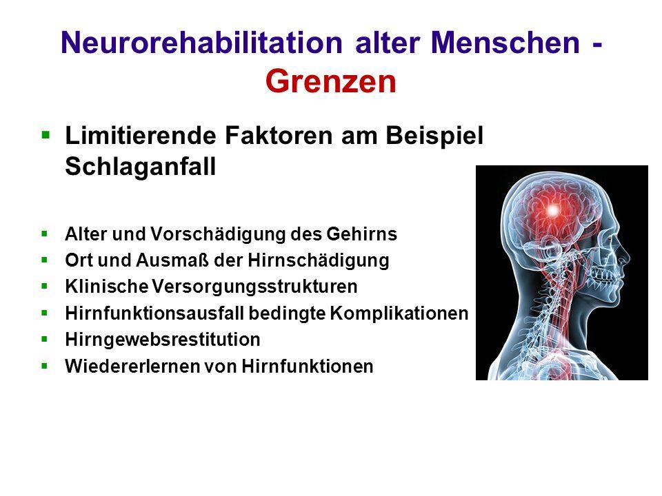 Neurorehabilitation alter Menschen - Grenzen