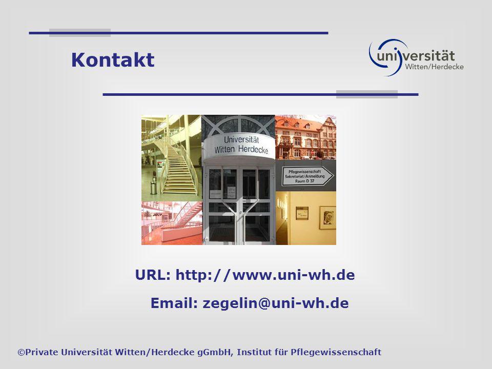 Kontakt URL: http://www.uni-wh.de