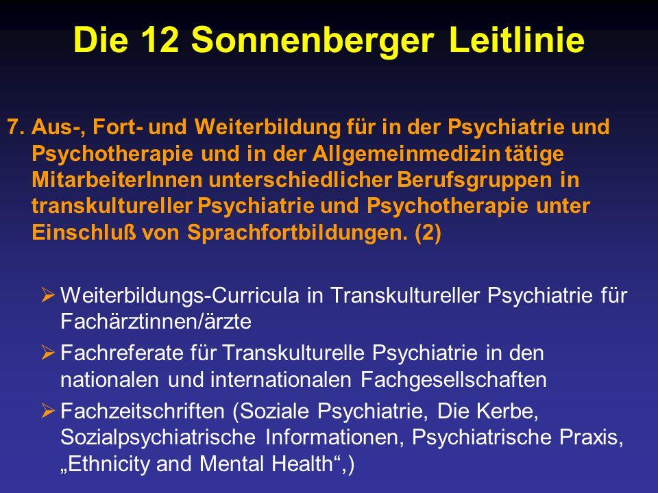 Die 12 Sonnenberger Leitlinie