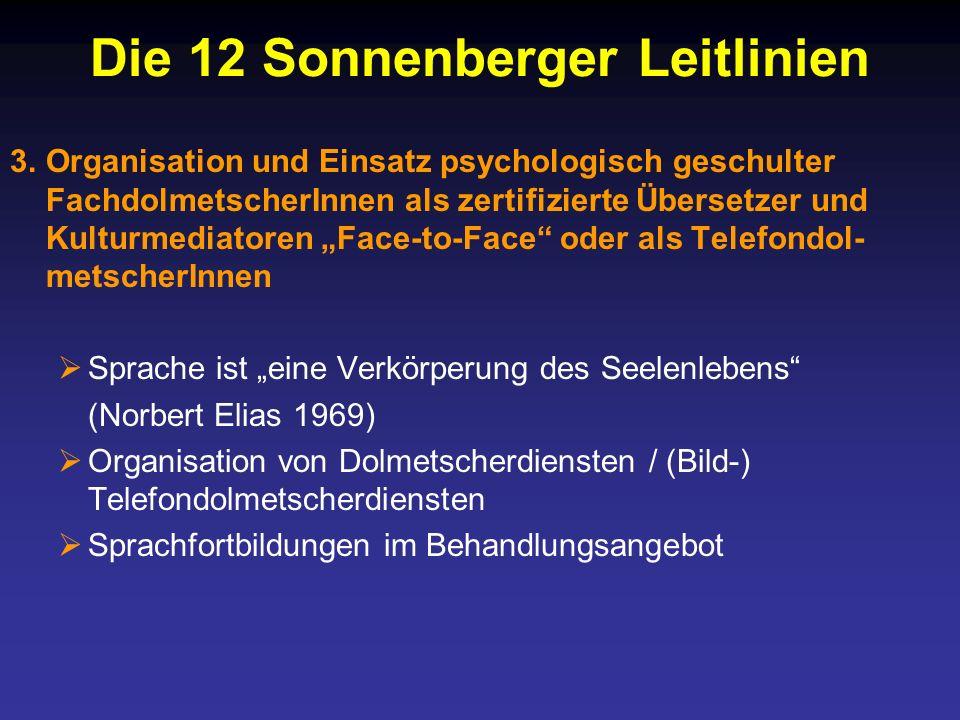 Die 12 Sonnenberger Leitlinien