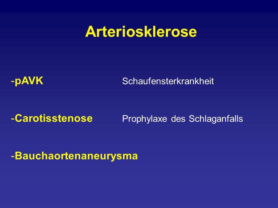 Arteriosklerose pAVK Schaufensterkrankheit